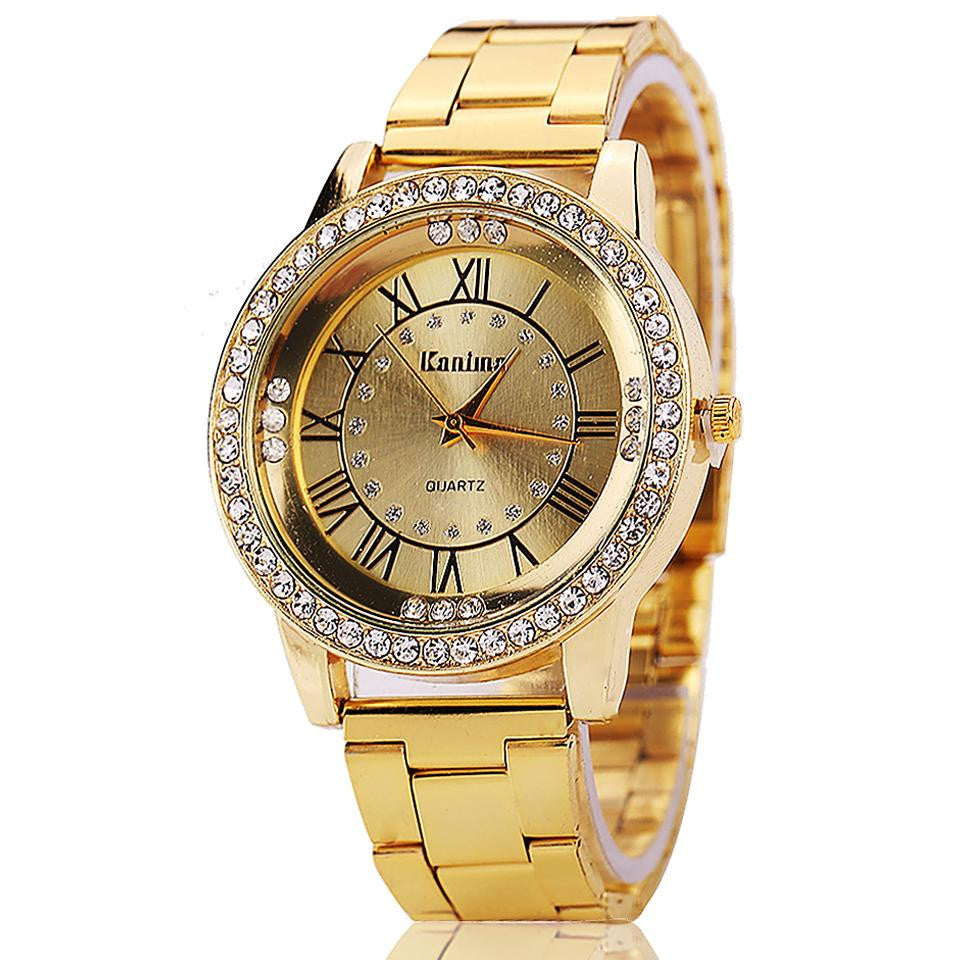Hot Sale Women Gold Watch Luxury Stainless Steel Waterproof Military Watch Wristwatch Women Watches Relogios Femininos