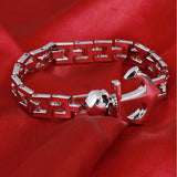 Hot Selling Stainless Steel Bracelets Bangles Man Fashion Jewelry Charms Punk Man Accessories Male Wrap Cuff Bracelet