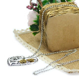 Hot Silver Color Vintage Necklace Steampunk Lover Heart Chain Statement Necklace Classic Gear Summer Jewelry