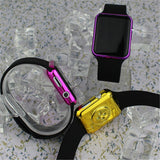Hot Square Mirror Face Silicone Band Digital Watch Red LED Watches Quartz Wrist Watch Sport Clock Hours