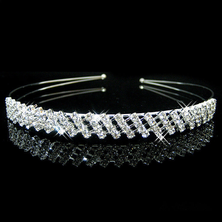 Hot fashion female girl rhinestone crystal Headband bandage on his head Bride Wedding Tiara crown hair hoop accessories