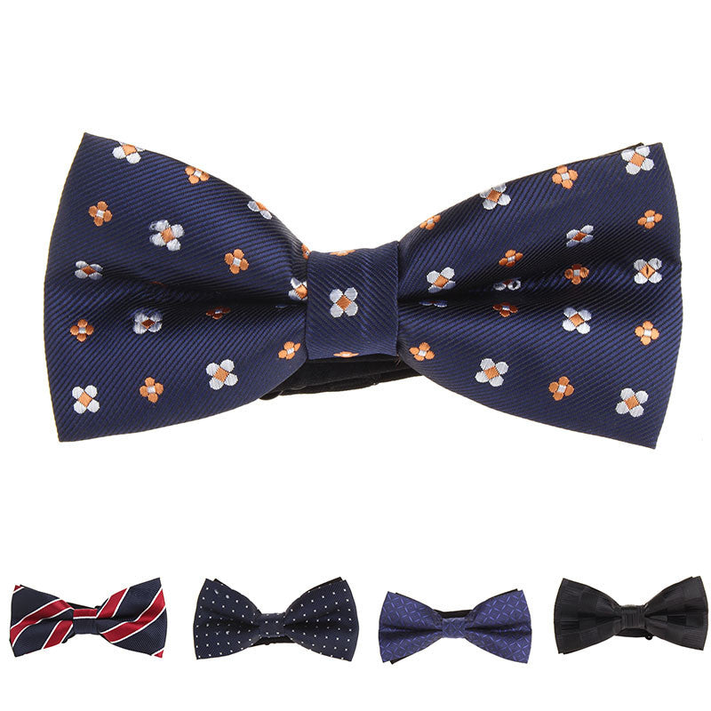 Hot Sale Formal Commercial Bow Tie Butterfly Cravat Bowtie Male Solid Color Marriage Bow Ties For Men Formal Business