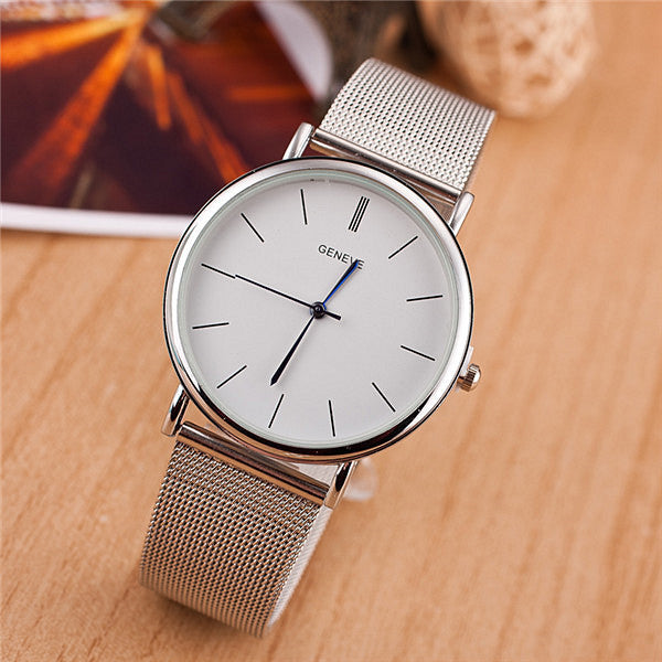 Hot Sale Luxury Mesh Stainless Steel Wristwatch New Fashion Casual Watch Analog Quartz Watch Women Watch Trendy Steel Watch