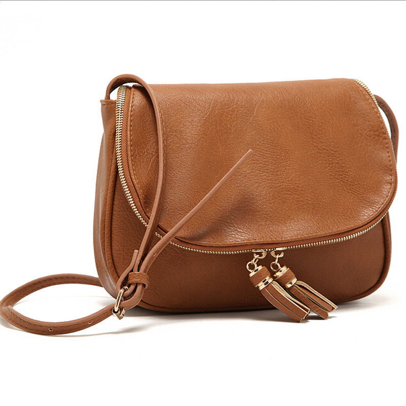 Hot Sale Tassel Women bag Leather Handbags Cross Body Shoulder Bags Fashion Messenger Bag 5 Colors Available Bolsas femininas