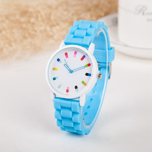 Hot Sale Women Watch Fashion Geneva Casual Watch Silicone Wristwatch Girls Women Men Quartz Watch Relogio Feminino Clocks