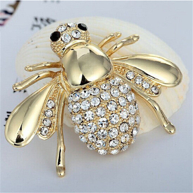 Hot Selling Cute Animal Bee Brooch For Women In Europe And America