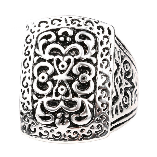 Hot Vintage Jewelry Big Antique Rings For Men Plating Silver And Gold Luxury Fantastic Gift