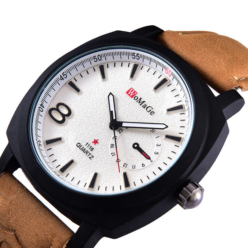 Hot luxury brand quartz watch Casual Fashion Leather watches reloj masculino men watch Sports Watches