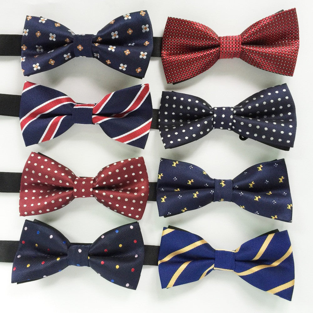 Hot sale Men Formal commercial Gentleman bow tie butterfly cravat bowtie male solid color marriage bow ties for men