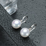 Hot selling stud earrings for women 9-9.5mm big Natural pearl jewelry 925 sterling silver jewelry