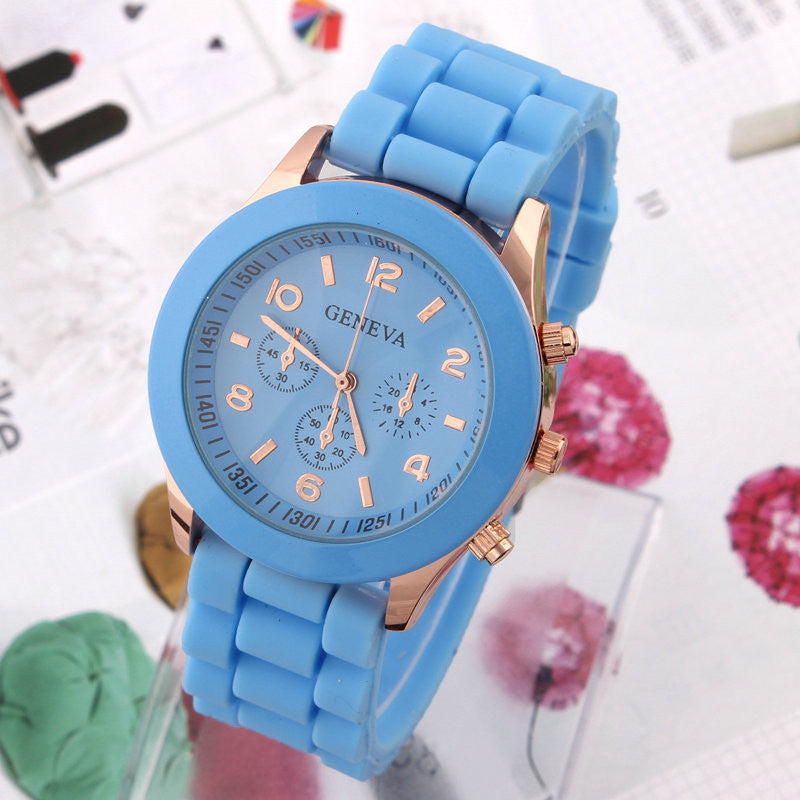 Women's Watch Fashion Silicone Strap Candy color watches