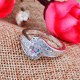 Female White Oval Ring Fashion Gold Filled Jewelry Vintage Wedding Rings For Women Birthday Stone Gifts