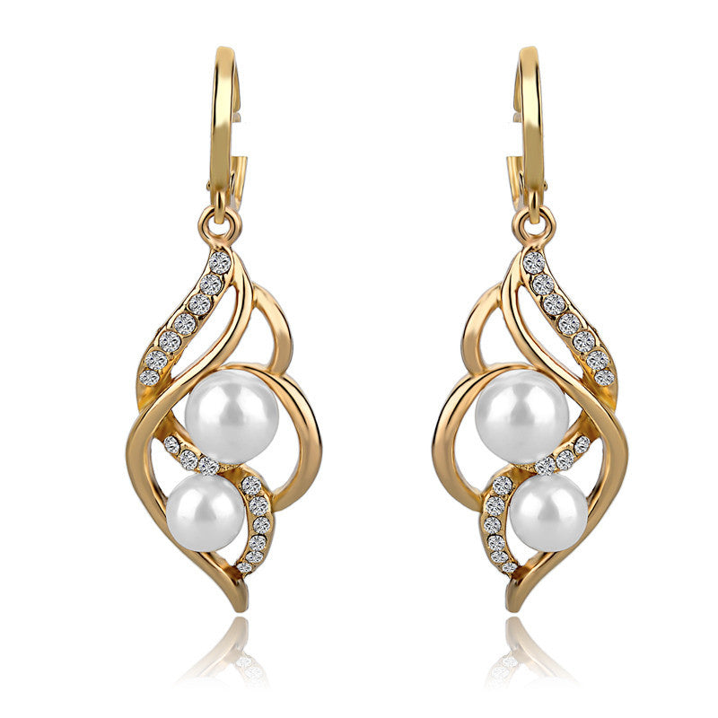 Jewelry Charm Fashion Wedding Earrings With Pearls Drop Earring Gold/Silver Dangle Earrings Jewelry Gift For Women