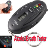 LCD Prefessional Police Digital Breath Alcohol Tester battery the Breathalyzer Parking Car Detector Gadgets Meter