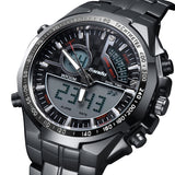 LIANDU Brand Military Watch Men's Running quartz Analog Digital Reloj Full Steel Waterproof Digital LED Watch
