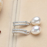 Brand Elegant AAAA Top quality freshwater pearl jewelry Fashion dangle drop earrings for women Mother's Day gift