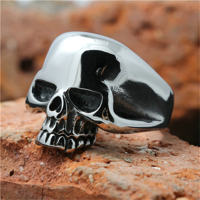 Lastest Design !! Hot Mens Boy Skull Head Ring 316L Stainless Steel Punk Style Ring