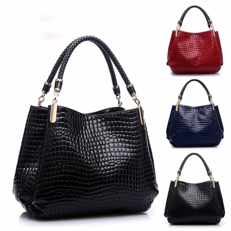 Leather Women Handbag Bolsas De Couro Fashion Famous Brands Shoulder Bag Black Bag Ladies Bolsas