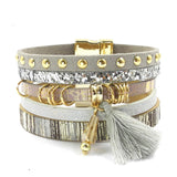 Leather bracelet 6 color bracelets winter charm bracelets Bohemian bracelets&bangles for women Christmas gift