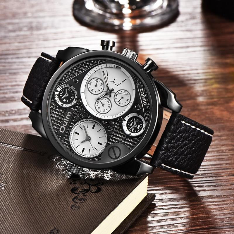 Luxury Brand Oulm Watches Men Full Steel Quart Watch Big Design Business Male Casual Military Wristwatch relojes hombre