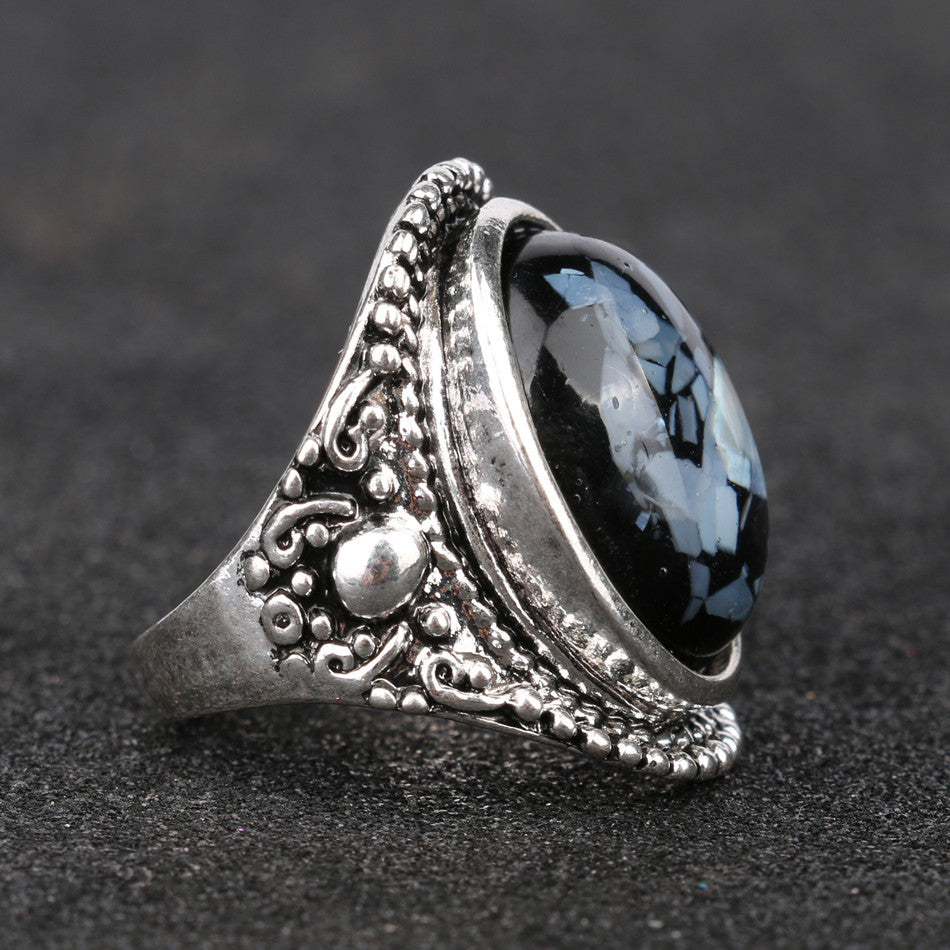 pin metal rings and blue ring artificial princess shape sapphire patterns diana