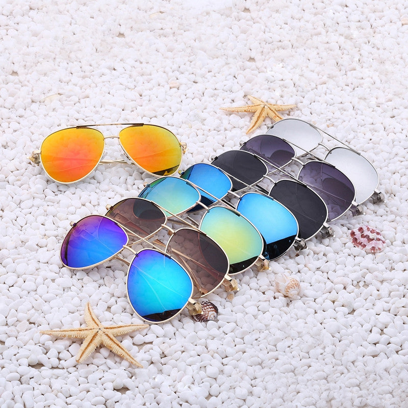 Luxury diamond metal Fox shape sunglasses women brand designer Aviation glasses Vintage mirror coating sun glasses