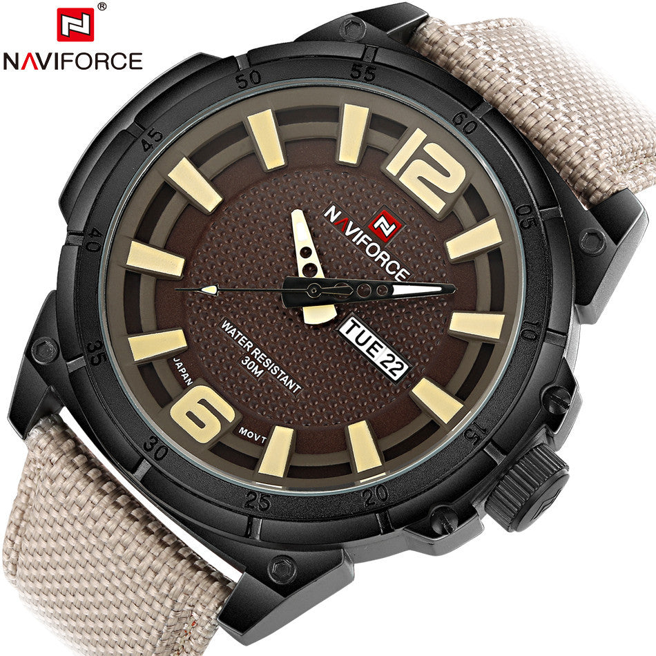 Luxury Brand Military Watch Men Quartz Analog Clock Leather Canvas Strap Clock Man Sports Watches Army Relogios Masculino