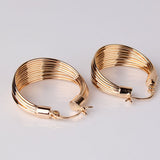 Luxury Party Large Hoop Earings Gold Plated Big Hoop Earring for Women Circle Earrings Jewelry for Wedding