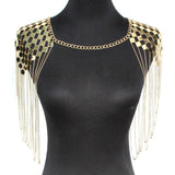 Bohemian Punk Body Chain Necklaces Collar Shoulder Chain Long Necklaces & Pendants Women Sexy Statement Body Jewelry