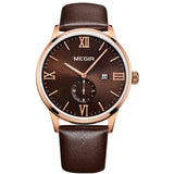 MEGIR 2015 New Men's Watch Top Brand Luxury Watch Leather Strap Quartz Casual Business Watch Men Wristwatch