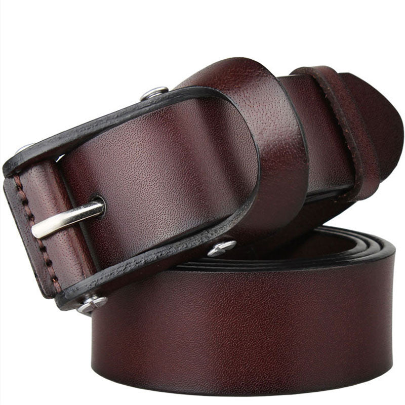 High quality 100% Genuine leather belts for men vintage fashion pure cowhide mens belts luxury