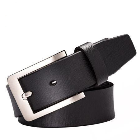 Fashion 100% Genuine Leather belt men fashion ceinture homme Metal pin buckle belts for men Jeans belt brand cintos