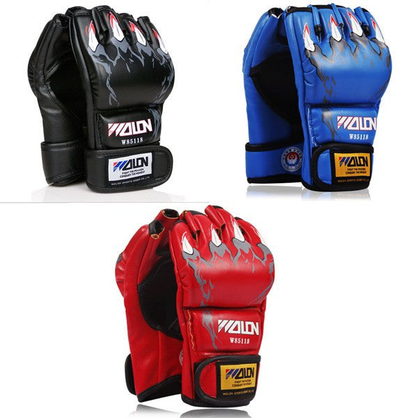 MMA boxing gloves / extension wrist leather / MMA half fighting Boxing Gloves/Competition Training Gloves