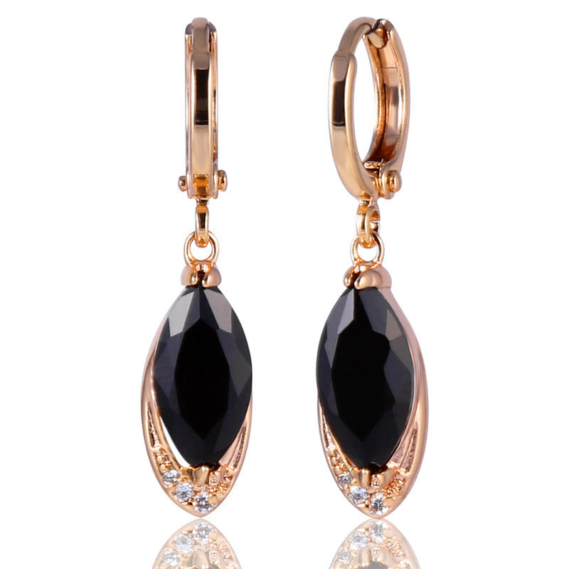 Fashion Party Charming Earrings for Women Gold Plated Crystal Earring Pandent AAA Zircon Dangle Drop Earrings