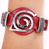 Cosplay Naruto leather bracelets fashion anime Punk bangles fashion gifts