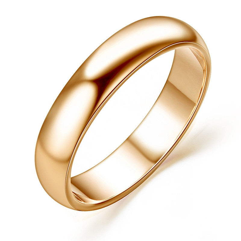 Man and Woman 18K Rose Gold Plated High Polish Wedding band Classic rings