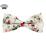Floral Bow Tie for Men Cotton Bowtie British Style Business Casual Neck Tie Fashion Bowtie Wedding Party Gravata