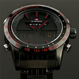 Men Watches NAVIFORCE 9024 Luxury Brand Full Steel Quartz Clock Digital LED Watch Army Military Sport Watch
