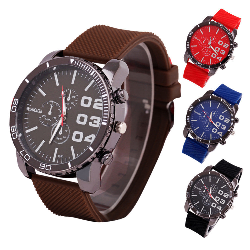 Men Wristwatch Sports Mens Army Military Watches Brand Male Clock Rubber Strap Outdoor Watch for Men Gift Relogio Masculino