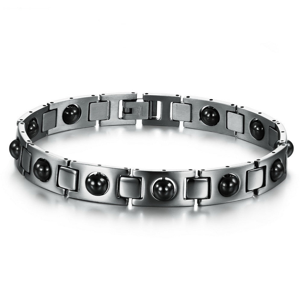 Men's Stainless Steel Magnetic Bracelets High Quality Health Care Balance Bracelets Trendy Style Men Jewelry