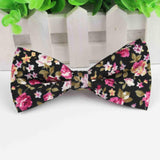 Mens Bow Tie Flexible Bowtie Smooth Necktie Soft Cotton Butterfly Decorative Pattern Paisley Flower Ties