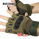 Military Gloves Brand New Outdoor Sports Army Full Half Finger Motorcycle Cycling Carbon Leather Gloves