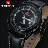 NAVIFORCE Genuine Leather Men Watch Waterproof Watch Top Brand Luxury Men Quartz Men Sports Watch Spring Watch
