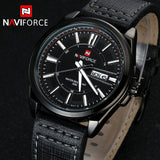 NAVIFORCE Genuine Leather Mens Watch Top Brand Luxury Men Quartz Watches Men Sports Watch Fashion Watches