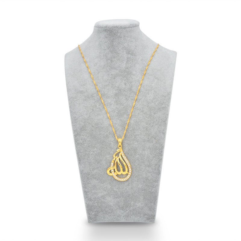 New 18k gold plated muslim islamic god allah big pendant necklace new 18k gold plated muslim islamic god allah big pendant necklace ramadan jewelry gift mozeypictures Choice Image
