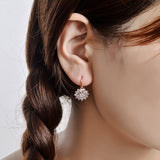 Luxury Ear Cuff Earrings For Women 6pcs Round And Marquise CZ Formed Brilliant Flower Stud Earrings Women Jewelry Gift