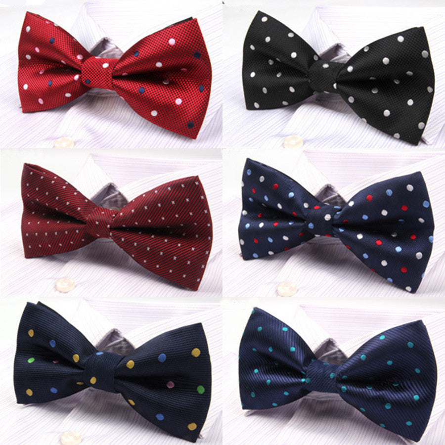 NEW Active Solid Dot Geometric Bow Tie One Size Noeud Papillon Boys and Girls Polyester Cravat Bowties Female Neckwear Hot
