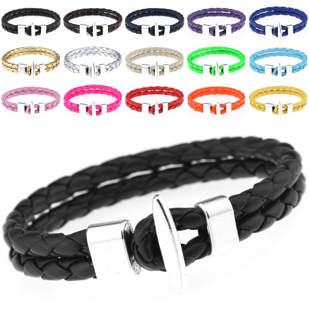 New Arrival Charm Men Accessories Simple Style Fashion Leather Bracelet Jewelry DIY Bracelets Birthday Gifts