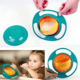 Baby Kid Boy Girl Gyro Feeding Toy Bowl Dishes Spill-Proof Universal 360 Rotate Technology Funny Gift