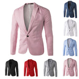 New Arrival Single Button Leisure Blazers Men Male Fashion Slim Fit Casual Suit Red Navy Blue Blazer Dress Clothing